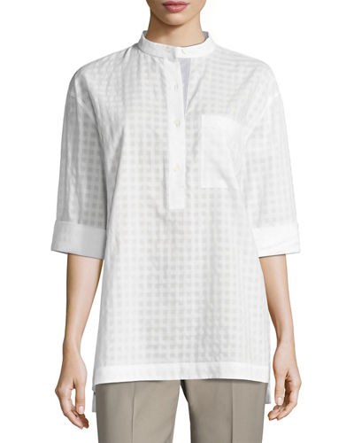 Cecilia Patterned Button Blouse