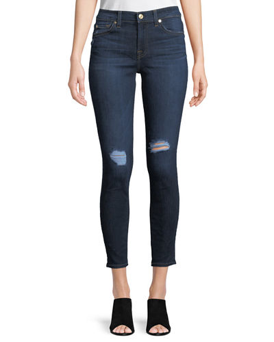 Gwenevere Distressed Skinny Ankle Jeans