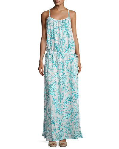 Side-Tie Long Dress Swim Coverup
