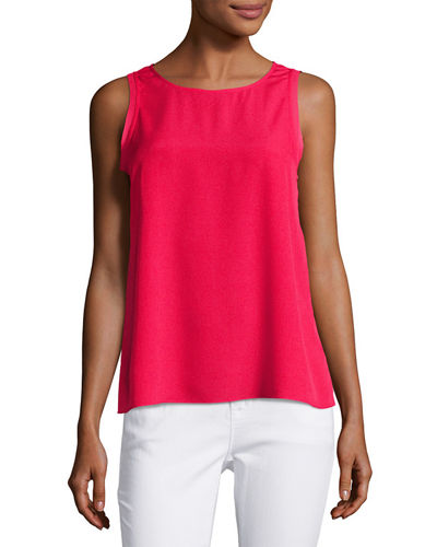 Chiffon Panel Sleeveless Blouse