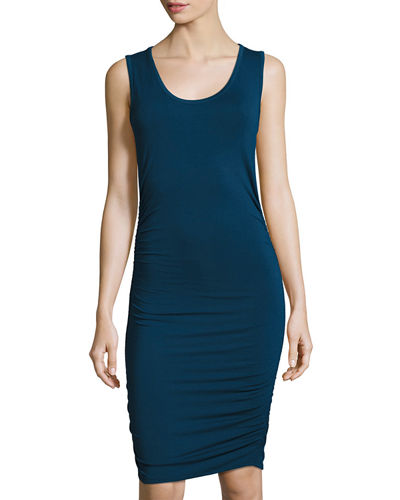 Side Ruched Jersey Tank Dress