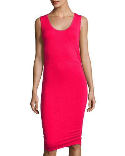 Side-Ruched Jersey Tank Dress