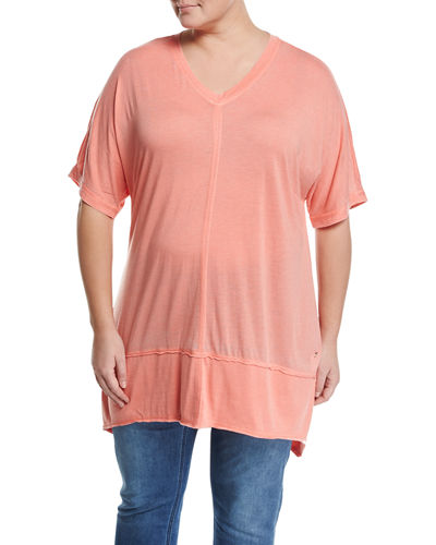 Extreme High Low Tunic Top Plus Size