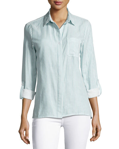 Tally Cotton Striped Shirt
