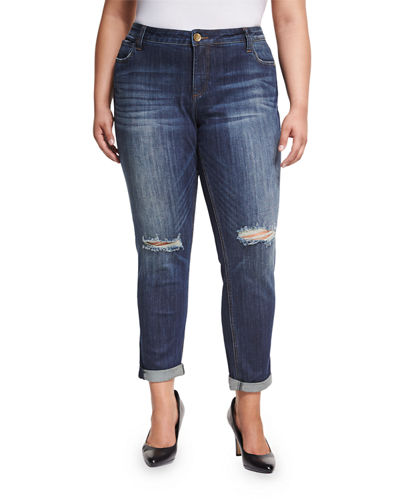 Catherine Distressed Boyfriend Jeans Plus Size