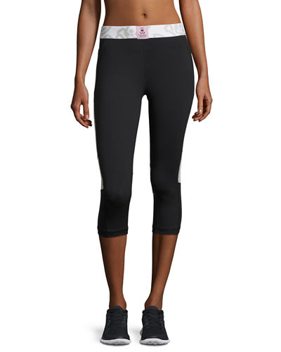Paneled Performance Capri Leggings
