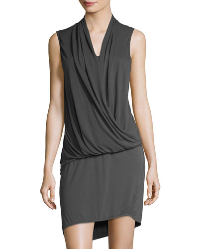 Elite Draped Front Jersey Dress
