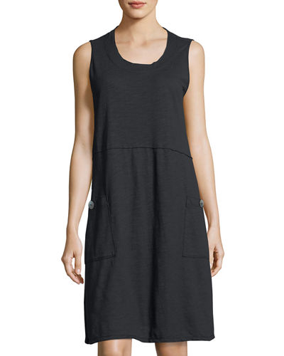 Napa Patch-Pocket Jersey Dress