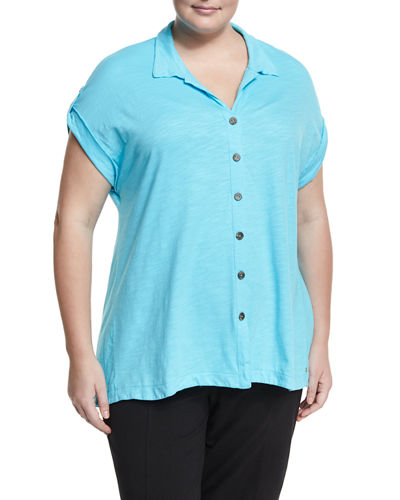 Maggie Short Sleeve Jersey Shirt Plus Size