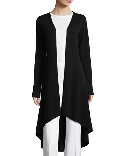 Cashmere Flared Duster Cardigan