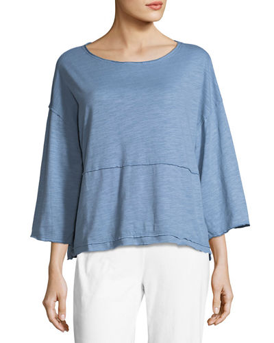 Retro Raw Edge Pullover Top