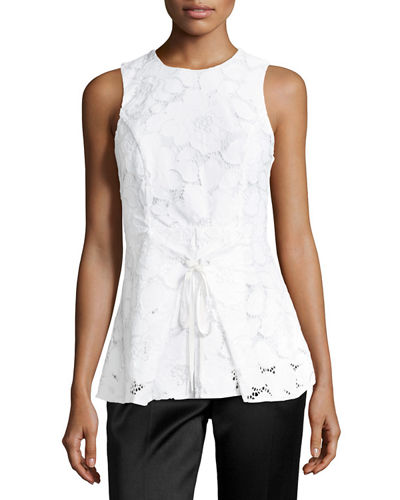 Floral Lace Peplum Top