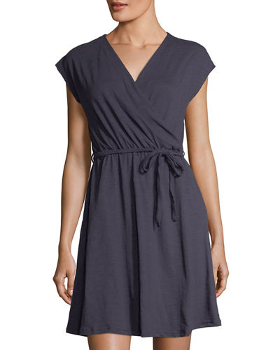 Gloria Gathered-Waist Dress