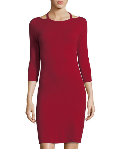 Cashmere Cutout Sweater Dress