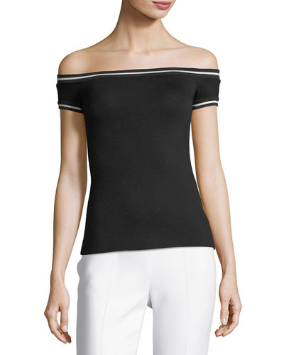 On the Go Boat Neck Cap Sleeve Fitted Top