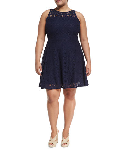 Robyn Lace- Fit & Flare Dress, Plus Size