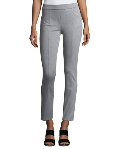 Skinny Pull-On Ponte Pants