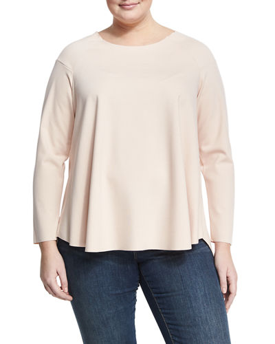 Raglan Sleeve Swing Top Plus Size