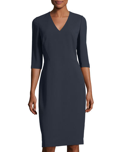 Delilah 3/4-Sleeve Sheath Dress