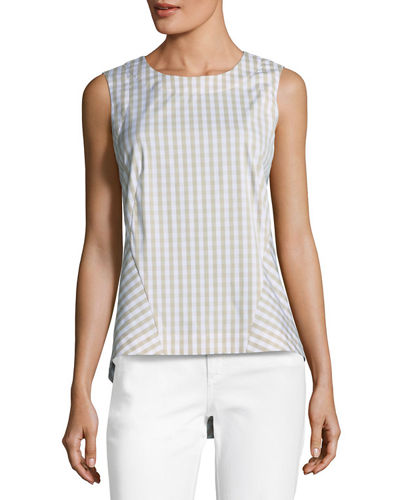 Melina Gingham Sleeveless Top