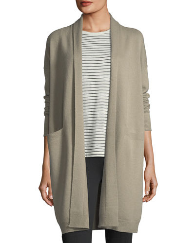 Cashmere Open-Front Coat