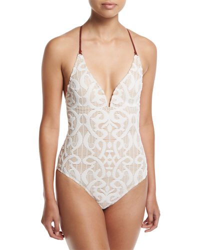 Valley God Lace One-Piece Swimsuit