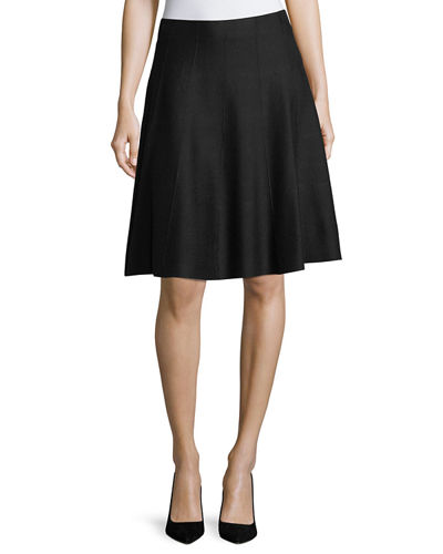 Paneled Jersey Twirl Skirt