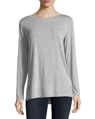 Patch-Pocket Long-Sleeve Tee