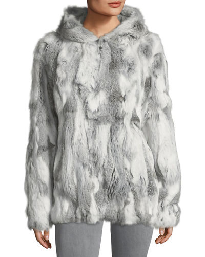 Hooded Fur Coat