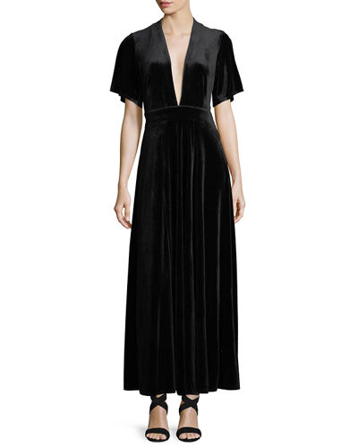 Evening dresses clothing at neiman marcus last call temptress velvet plunge neck dress junglespirit Choice Image