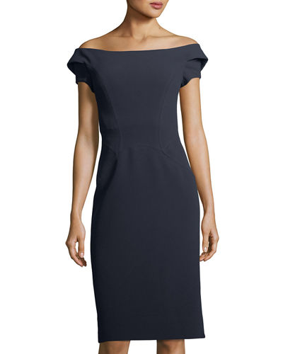 Strappy Off-the-Shoulder Cocktail Dress