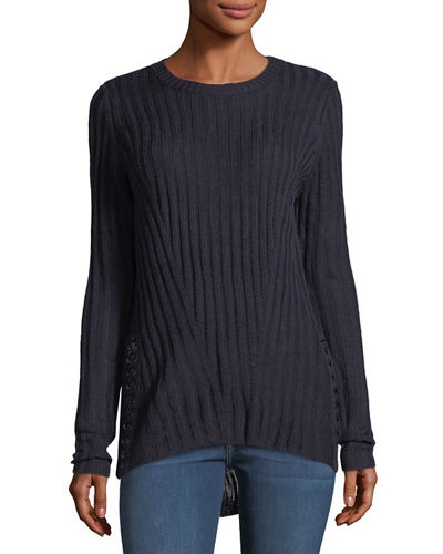 PULLOVER CREW SIDE LACE UP S