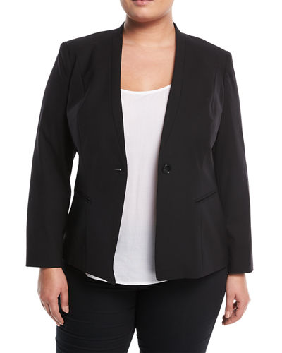 Kara One-Button Jacket, Plus Size