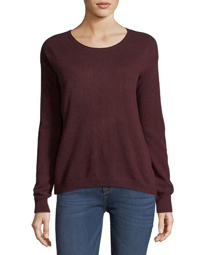 Cashmere Cropped Boxy Sweater