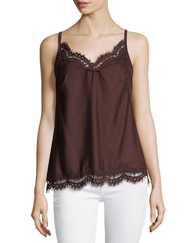 Sleeveless Velvet Blouse