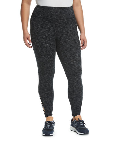 Mabel Crisscross-Cuff Leggings, Plus Size