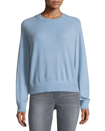 Cashmere Crewneck Long-Sleeve Sweater