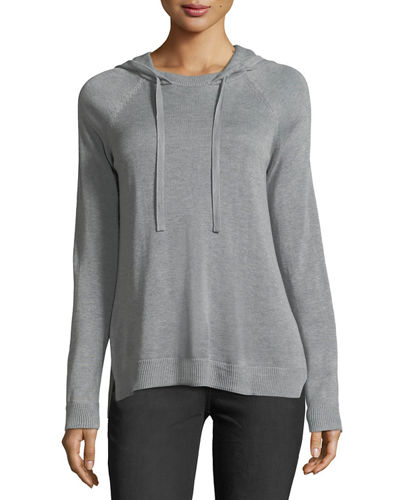 Cashmere-Silk Hooded Sweater
