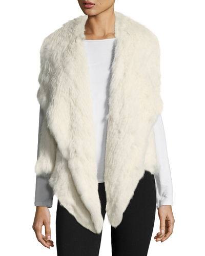 Rabbit Fur Envelope Vest