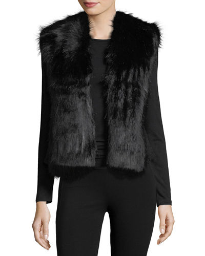 Faux-Fur Open-Front Vest