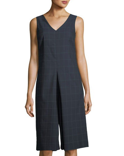 Sleeveless Culotte Wide-Leg Jumpsuit