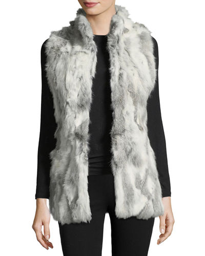 Multicolor Rabbit Fur Vest