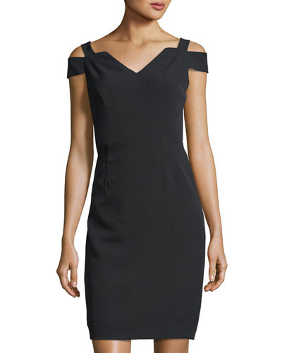 Cold-Shoulder Fitted Sheath Dress