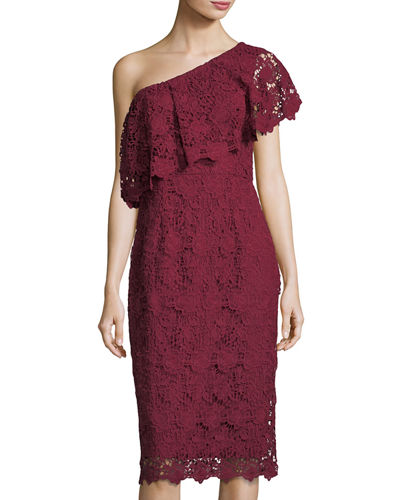Asymmetric Lace Cocktail Dress