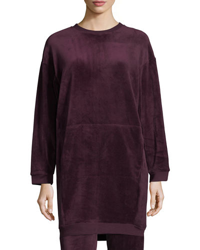 Velour Pullover Tunic