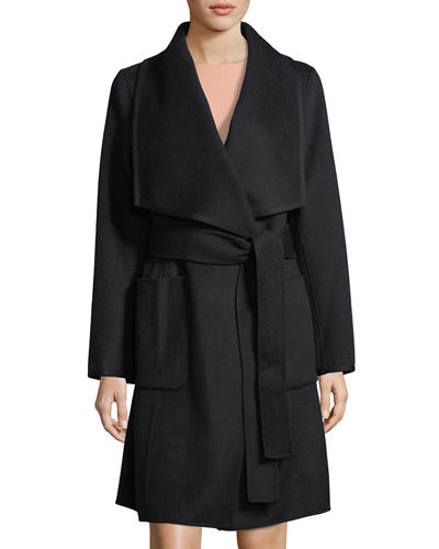 Double-Face Wool Wrap Coat