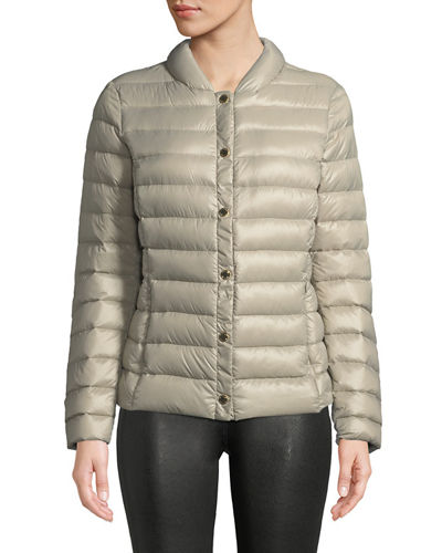 Packable Easy-Snap Quilted Jacket