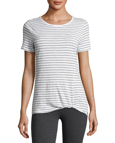 Twisted-Knot Striped Tee