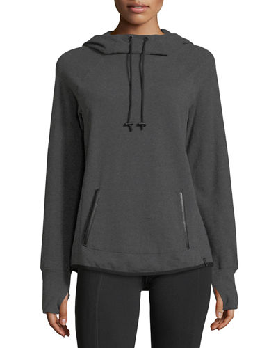 Funnel-Neck Pullover Sweatshirt