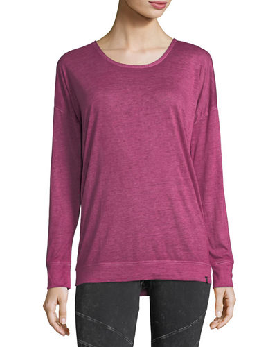 Crisscross-Back Long-Sleeve Tee